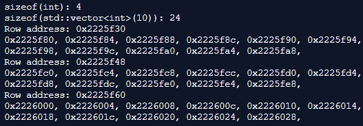 Multi-dimensional std::vector with a 4 byte integer and 24 byte row